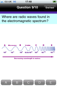 Where are radio waves found in the electromagnetic spectrum?
