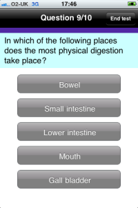 In which of the following places does physical digestion take place?